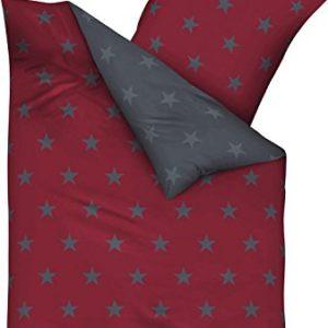 Traumhafte Bettwäsche aus Satin - rot 155x220 von Kaeppel