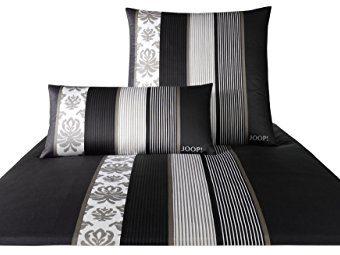 Schöne Bettwäsche aus Satin - schwarz 135x200 von Joop!