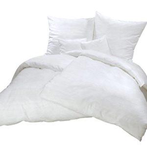 Schöne Bettwäsche aus Seersucker - weiß 135x200 von Carpe Sonno