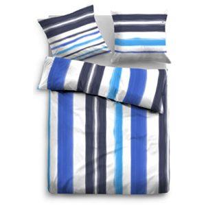 Traumhafte Bettwäsche aus Baumwolle - blau 135x200 von TOM TAILOR