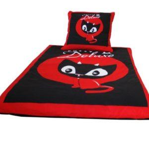 Hübsche Bettwäsche aus Baumwolle - schwarz 135x200 von Pussy Deluxe
