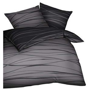 Traumhafte Bettwäsche aus Biber - grau 135x200 von Kaeppel