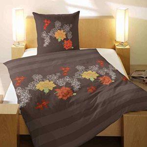 Kuschelige Bettwäsche aus Flanell - braun 135x200 von Primera