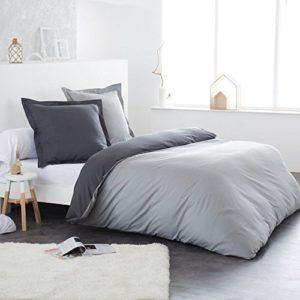 Traumhafte Bettwäsche aus Flanell - grau 220x240 von Home Linen