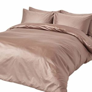Kuschelige Bettwäsche aus Jersey - braun 135x200 von Homescapes