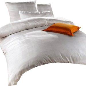 Schöne Bettwäsche aus Jersey - weiß 135x200 von Curt Bauer