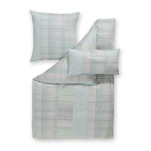 Schöne Bettwäsche aus Satin - blau 135x200 von Estella