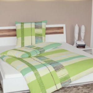 Schöne Bettwäsche aus Seersucker - grün 155x220 von Janine