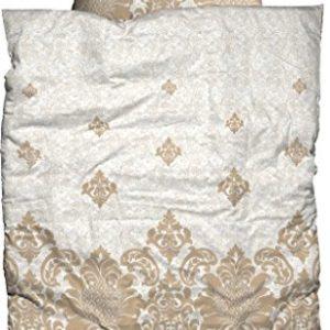 Schöne Bettwäsche aus Biber - weiß 155x220 von Casatex