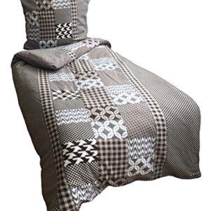 Kuschelige Bettwäsche aus Fleece - schwarz 135x200 von Leonado Vicenti